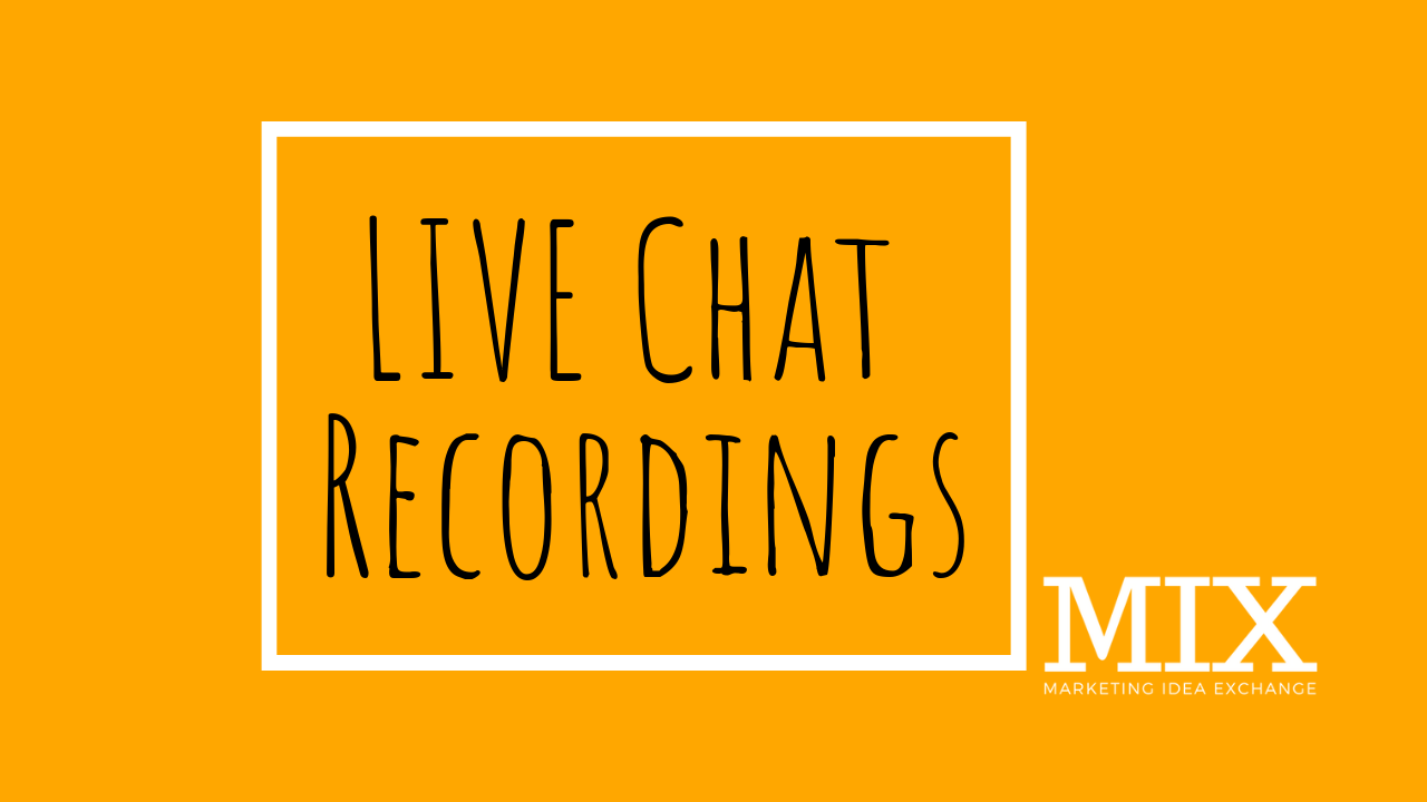 LIVE Chat: Recordings